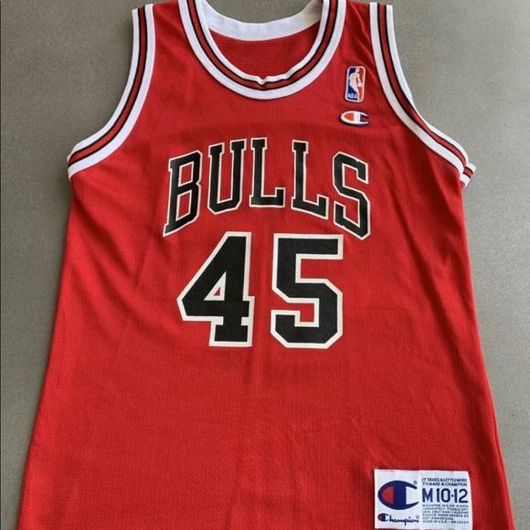 brand new 0a61d 54653 Jordan Bulls #45 Champion Jersey Youth M 10-12